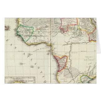 L'Afrique a gravé la carte avec 2 cartes d'encart