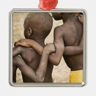 L'Afrique, Afrique de l'ouest, Ghana, Yendi. Tir Ornement Carré Argenté