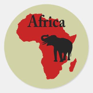 L'Afrique Autocollant Rond