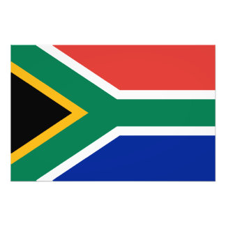 L'Afrique du Sud - drapeau sud-africain Impressions Photo