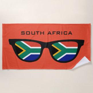 L'AFRIQUE DU SUD ombrage la serviette de plage