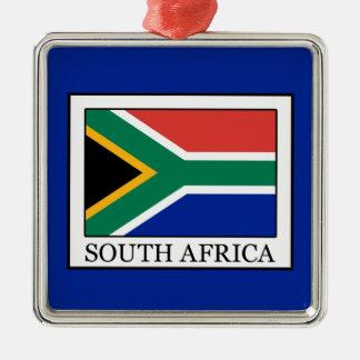 L'Afrique du Sud Ornement Carré Argenté