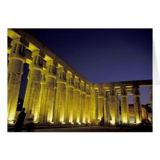 L'Afrique, Egypte, Louxor. Cour de Sun d'Amenhotep Carte De Vœux