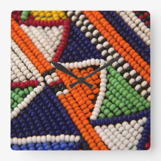 L'Afrique, Kenya. Perles de tribal de Maasai Horloge Carrée
