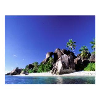 L'Afrique, Seychelles, île de Digue de La. Granit Carte Postale