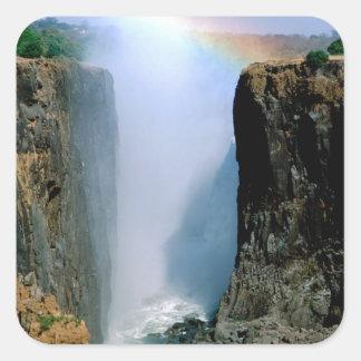 L'Afrique, Zambie, parc national des chutes Sticker Carré