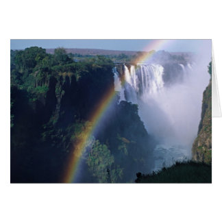L'Afrique, Zimbabwe. Les chutes Victoria Carte De Vœux