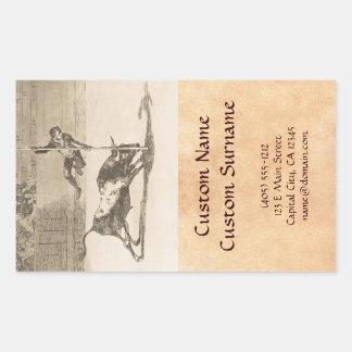 L'agilité et l'audace de Juanito Apinani Goya Autocollant Rectangulaire