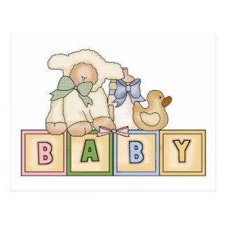 L'agneau de bébé bloque des cartes postales