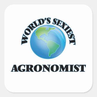 L'agronome le plus sexy du monde stickers carrés