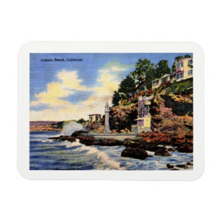 Laguna Beach, la Californie, vue vintage Magnet Flexible