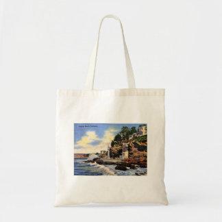 Laguna Beach, la Californie, vue vintage Sac En Toile