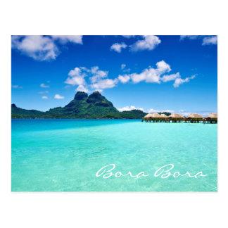 Lagune bleue à la carte postale de Mt Otemanu Bora