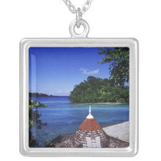 Lagune bleue, port Antonio, Jamaïque Pendentif Carré