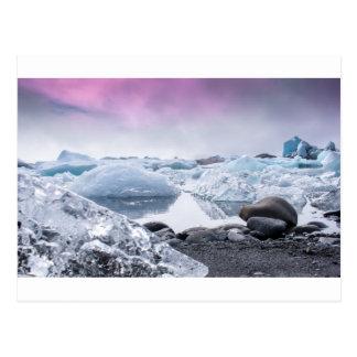 Lagune de glacier de l'Islande Carte Postale