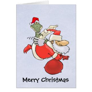 L'aide de Père Noël Cartes De Vœux