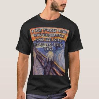 """L'aide du cri perçant"""" et du gouvernement Munch's T-shirt"""