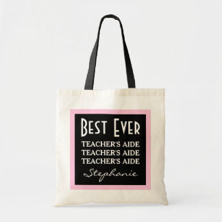 L'aide du meilleur professeur jamais tout rose du sac en toile