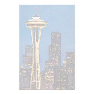 L'aiguille de l'espace et Seattle du centre Papier À Lettre Customisé