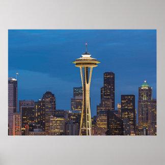 L'aiguille de l'espace et Seattle du centre Posters