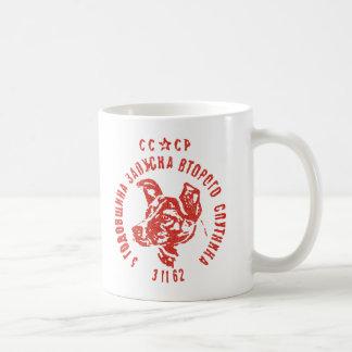 Laika - tasse de café soviétique du chien CCCP de