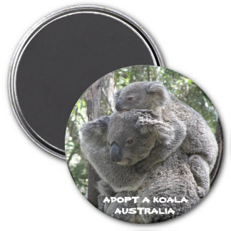 L'aimant adoptent un koala Australie ZIZZAGO Magnet Rond 7,50 Cm