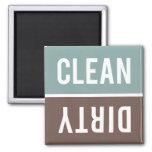 L'aimant de lave-vaisselle NETTOIENT | SALE - gris