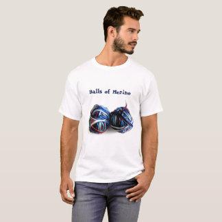 Laine de mérinos de T-shirt de crochet de tricot