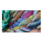 laine teinte par main multicolore à vendre carte de visite