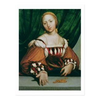 Lais Corinthiaca, 1526 (huile sur le limewood) Carte Postale