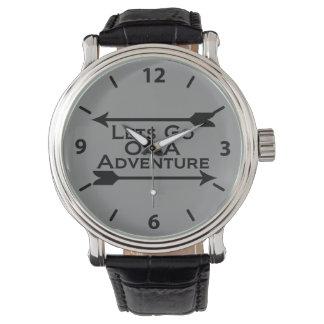 Laisse aller sur une région sauvage de nature montres bracelet