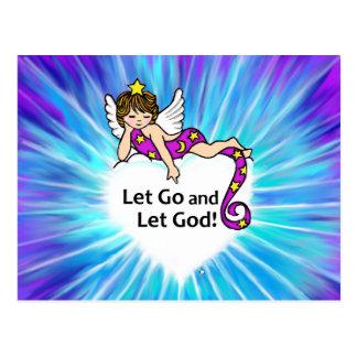 Laissé allez laisser Dieu Carte Postale