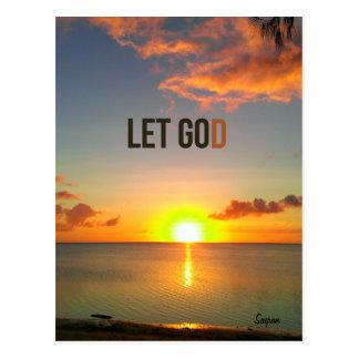 Laissé allez laisser Dieu, carte postale de