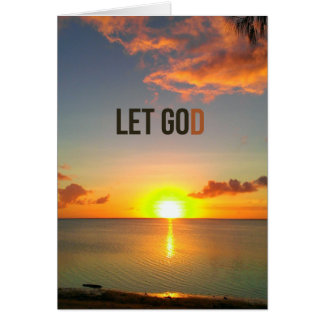 Laissé allez laisser la carte de Dieu