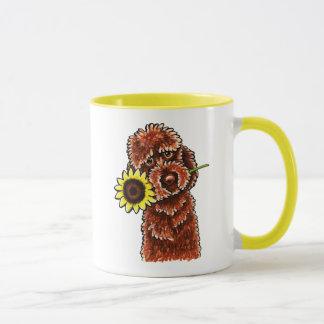 -Laisse ensoleillée Art™ de Labradoodle de Mug