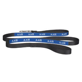 Laisse Pour Animaux Domestiques Alpha delta lettres bleu-clair et blanches de pi
