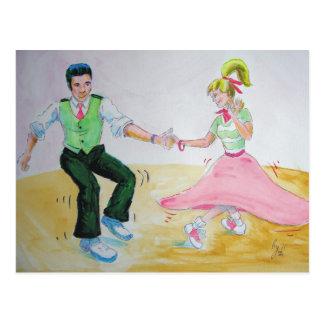 laisse tous faire les danseurs d'oscillation de to carte postale