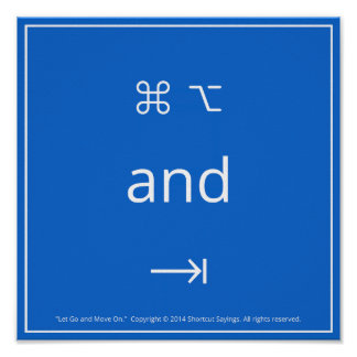 Laissez continuer et se déplacer - Bleu Posters