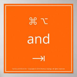 Laissez continuer et se déplacer - Orange