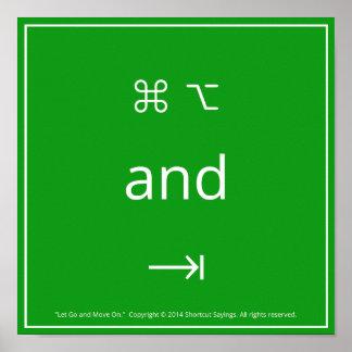 Laissez continuer et se déplacer - Vert de Kelly Affiches