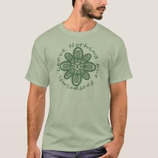 Laissez la botte de vert de rien mais d'empreintes t-shirt