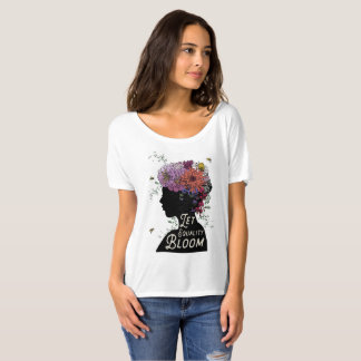 Laissez la fleur d'égalité - T-shirt Slouchy d'ami