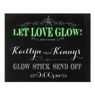 Laissez la lueur d'amour - bâton de lueur envoyer posters