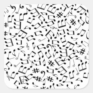 Laissez la musique créer l'amour et la rémission sticker carré