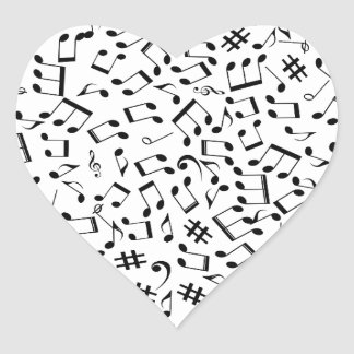 Laissez la musique créer l'amour et la rémission sticker cœur