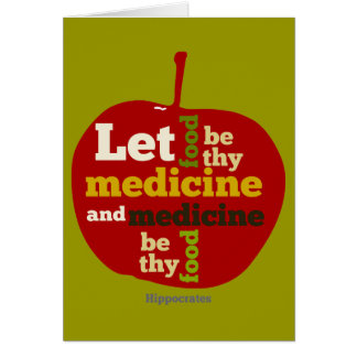 Laissez la nourriture être thy médecine APPLE Carte De Vœux