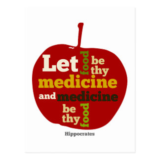 Laissez la nourriture être thy médecine APPLE Cartes Postales