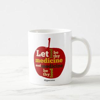 Laissez la nourriture être thy médecine APPLE Mug