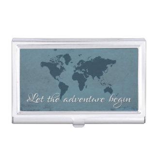 Laissez l'aventure commencer boîtiers pour cartes de visite