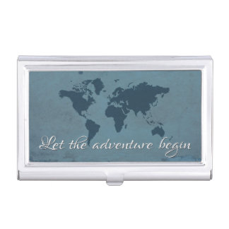 Laissez l'aventure commencer étui pour cartes de visite
